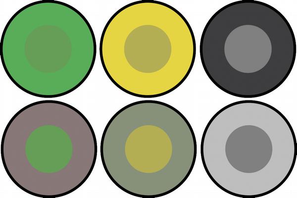 Gaze-contingent Colour